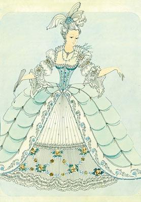 Эскизы платьев фирмы «Принцесса Анна»