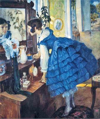 О. Л. Делла-Вос-Кардовская. «Маленькая женщина» (портрет дочери). 1910 г.