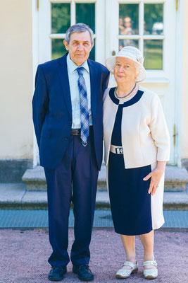 Владимир Борисович и Галина Петровна в Екатерининском парке. Июнь 2018 года