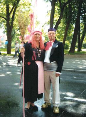 Перед карнавальным шествием в День города в 2008 году