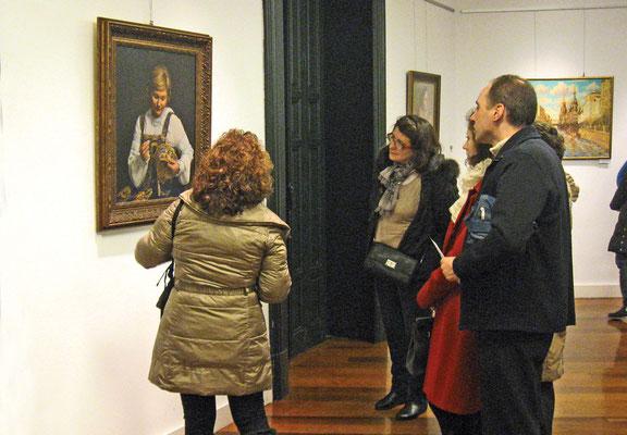 Работы Артемьева на выставке в Мадриде