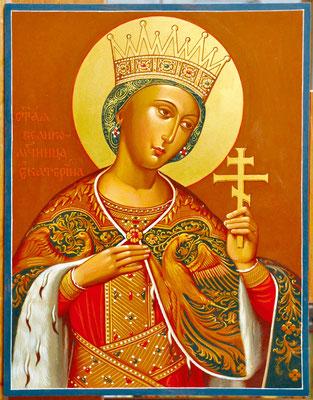 Образ св. великомученицы Екатерины работы Марины Жуковой