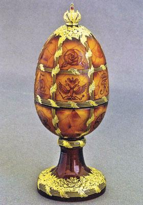 Пасхальное яйцо «Янтарное». Автор эскиза Тео Фаберже, 2017 г. Дар фонда «Санкт-Петербургская коллекция. Творения Тео Фаберже»