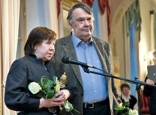 Светлана Кармалита и Алексей Герман на вручении Царскосельской премии в 2012 году