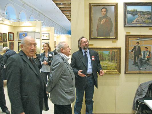 С Зурабом Церетели на открытии выставки в Москве