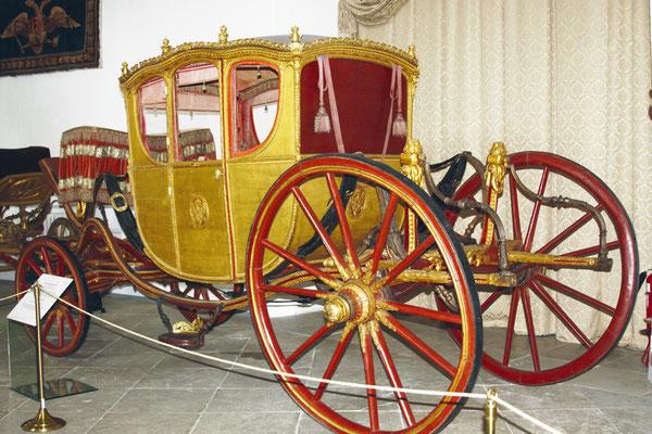 Парадная карета, которая участвовала во время коронации Александра II, Александра III и Николая II