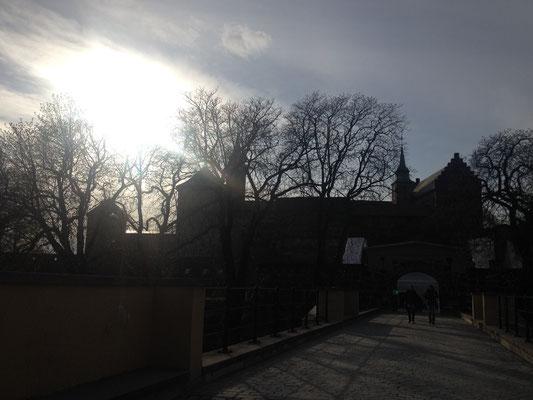 Die Festung Akershus im Sonnenuntergang