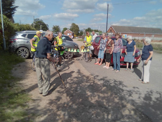 Welcomed at Attleborough by a good crowd