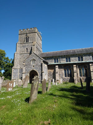 Day 4 Stopped at Ashill church on the way to Kings Lynn