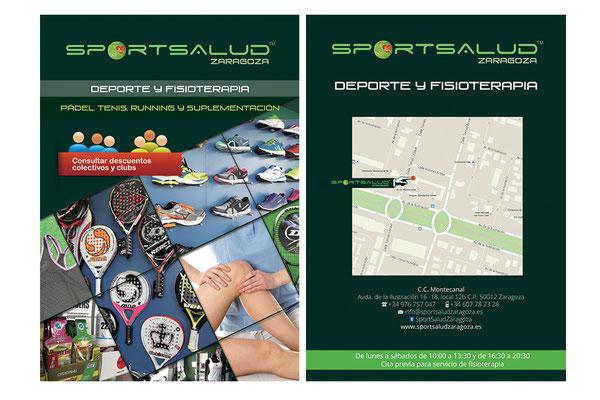 Flyer promocional para tienda de deportes