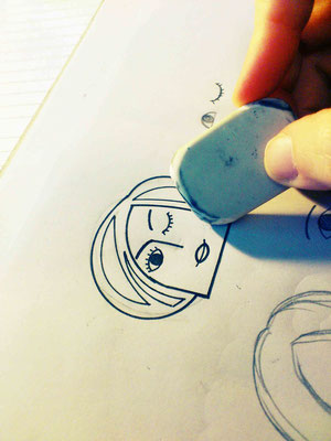Borro el lápiz que sobra para limpiar el dibujo. Me gusta así, muy bien!
