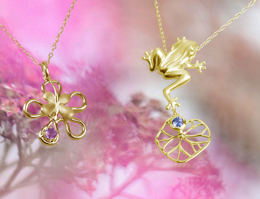 You Nature - Serie FLOWER und Serie FROG - in 585 / 750 Gold