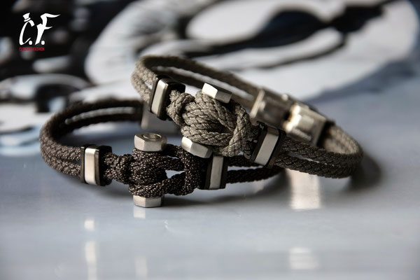 Clochard Fashion - Nylonarmbänder kombiniert mit Edelstahlschraube