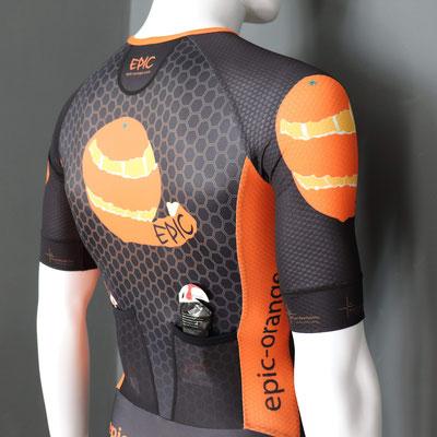 Custom Skinsuits, Aero rear pockets ideal for gels