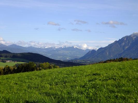 Blick von Anger Richtung Salzburger Voralpen