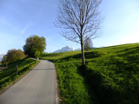 Weg vom Gasthaus Klosterwirt nach Anger-Dorfplatz