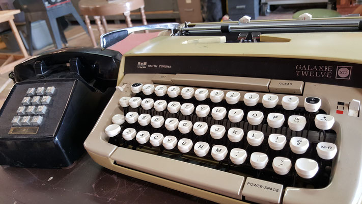 Our trusty typewriter (that actually works!) and phone make their way into yet another show!