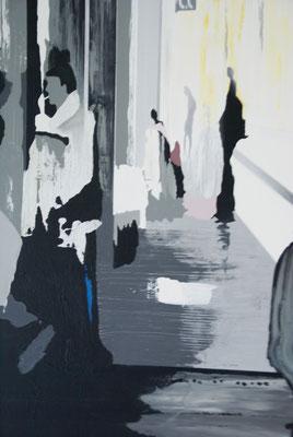 La gare SaintLaud. Acrylique sur toile. Collection privée.