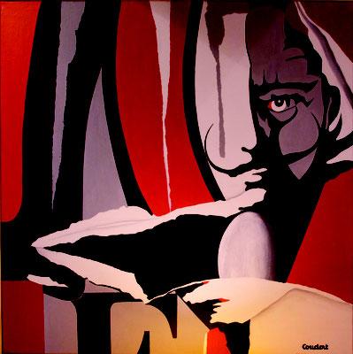 Ebauche à Dali. Acrylique sur toile. Collection privée