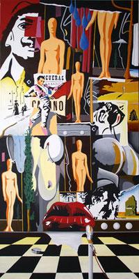 Les sentinelles de Figueras. Acrylique sur toile. Collection privée.
