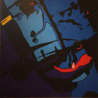 Vision 01. Acrylique sur toile. 120 x 120 cm.