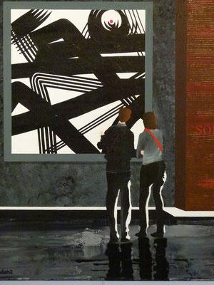 Arès l'expo. Acrylique sur toile. Collection privée.