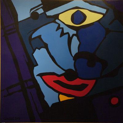 Vision 03. Acrylique sur toile. 150 x 150 cm.