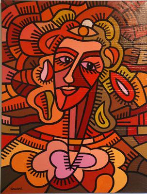 Irma la rousse. Acrylique sur toile. 89 x 116 cm.