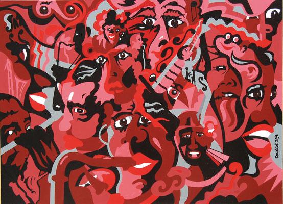 Vue de jazz. Acrylique sur toile. Collection privée
