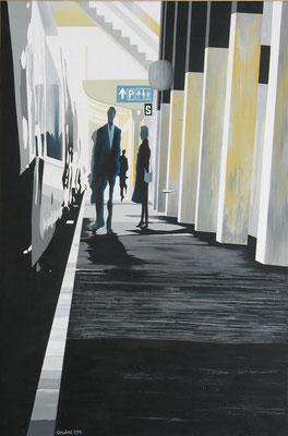 Direction Paris. Acrylique sur toile. Collection privée.