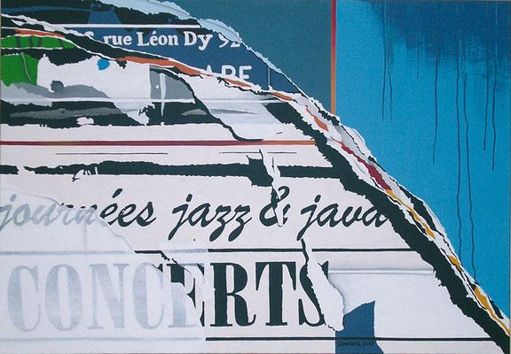 Jazz et java. Acrylique sur toile.