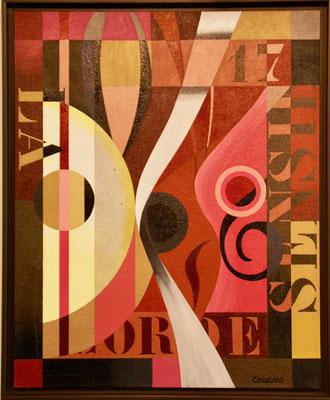 La corde sensible. Acrylique sur toile marouflée sur bois. 71 x 86 cm. Collection privée