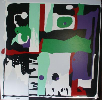 Grande abstraction 02 (complémentaire). 150 x  150 cm.
