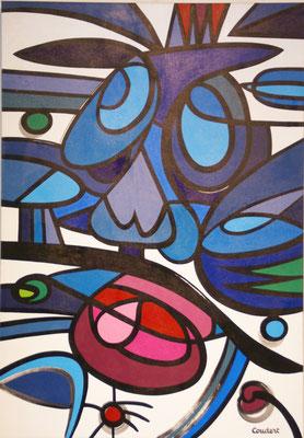Peur. Acrylique sur toile. 81 x 116 cm.
