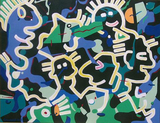 Parade. Acrylique sur toile. 89 x 116 cm.