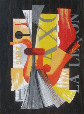 La leçon de saxo. Acrylique sur toile. Collection privée.
