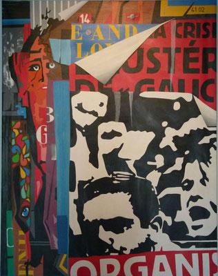 La lutte continue. Acrylique sur toile. Collection privée.
