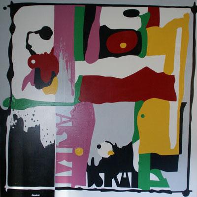 Grande abstraction 01. Acrylique sur toile. 150 x 150 cm.