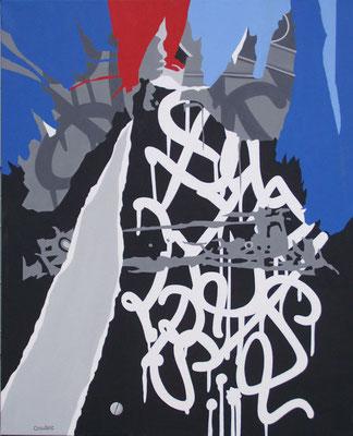 Assez. Acrylique sur toile. 82 x 100 cm.