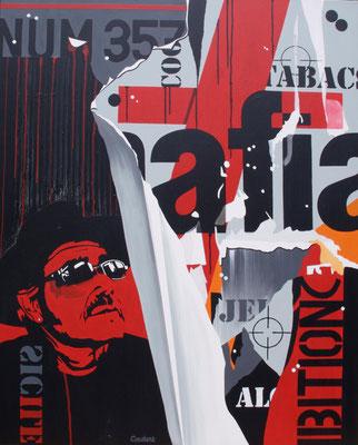 Mafia. Acrylique sur toile. Collection privée.
