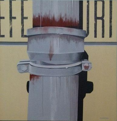 La gouttière. Acrylique sur toile. Collection privée.