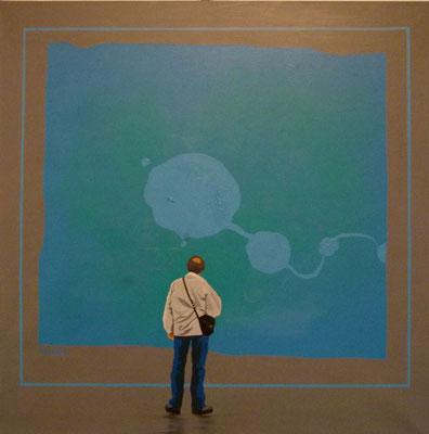 6ème étage salle 3. Acrylique sur toile. 90 x 90 cm