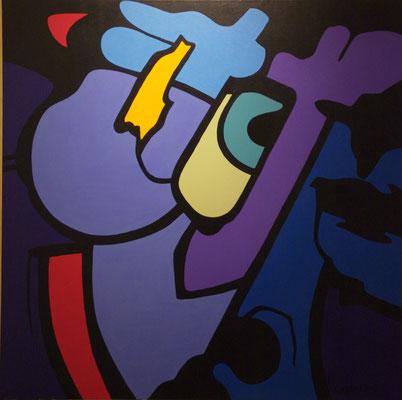 Vision 04 Acrylique sur toile. 150 x 150 cm.
