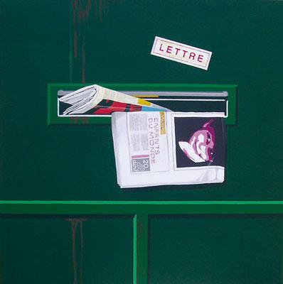 Lettre. Acrylique sur toile. Collection privée.