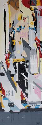 26-11. Acrylique sur toile. Diptyque. Collection privée