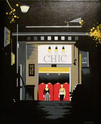 Chic. Acrylique sur toile. Collection privée.