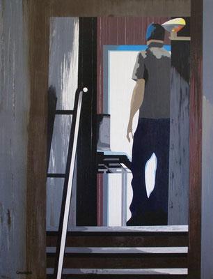 Le grand Jacques. Acrylique sur toile. 89 x 116 cm.