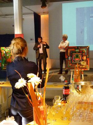 A Lyon, Henry Bouillot dirigeant de Triesse présente l'exposition en ma compagnie