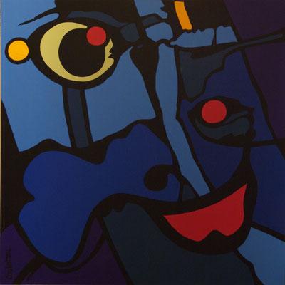 Vision 02. Acrylique sur toile. 150 x 150 cm.