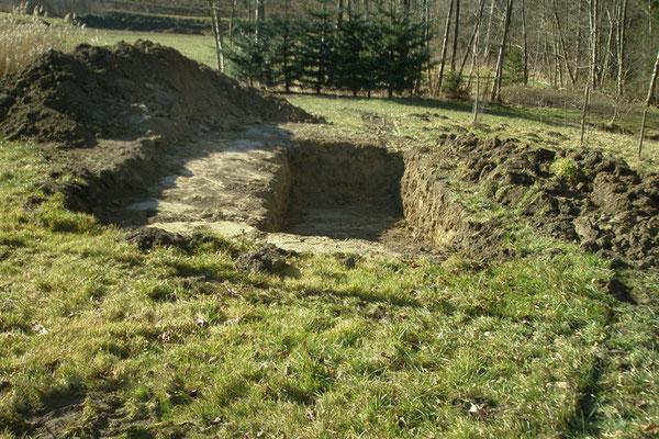 Auf einer Fläche von ca. 1,8 m x 5 m soll unser Hügelbeet in Nord-Süd-Richtung entstehen.